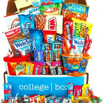 Deluxe Snacks Care Package, snack gift, college assortment variety pack bundle (45 count)