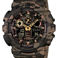 Men's G-Shock XL Camouflage Pattern Ana-Digi Watch, 55mm x 52mm