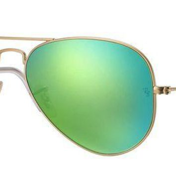 UCANUJ3V Ray Ban Sunglasses Aviator, 58mm