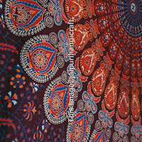 Twin Tapestry Wall Hanging, Hippie Bohemian Wall Decor Tapestries, Indian Mandala Tapestry Beach Throw, Dorm Bedspread Tapestries, Wall Art