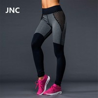 Cute Black Leggings Mesh Yoga Pants Women High Elastic Grey Sport Leggings High Waist Running Tights Quick Dry Fitness Legging