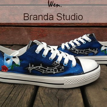 The Phantom Of The Opera Inspired Studio Hand Painted Shoes 52Usd,Paint On Custom Converse Shoes Only 90Usd,Buy One Get One Phone Case Free