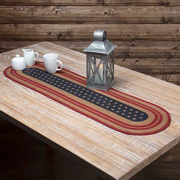 Liberty Stars Jute Table Runners