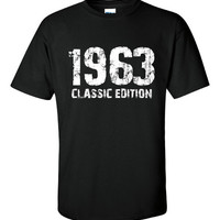 1963 Classic Edition Shirt. Funny, Graphic T-Shirts For All Ages. Ladies And Men's Unisex Style. Makes a Great Gift!