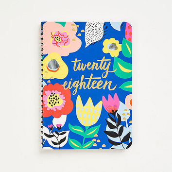 2017-2018 On Time Floral Planner