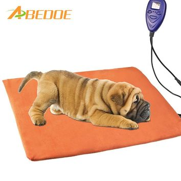 ABEDOE pet electric blanket waterproof anti-bite heating pad thermostat dog cat 12V low voltage heating electric pad