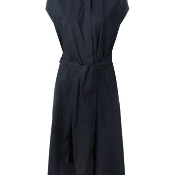 DRAPE - CPOP - RING NECK BELTED DRESS