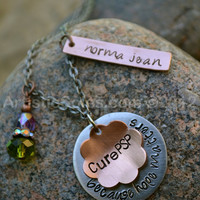 Cure PSP Personalized Metal Stamped Necklace