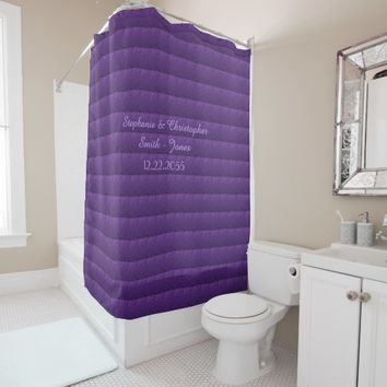 Purple Dolls Shower Curtain Wedding Names and Date