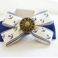 Cute bowknot anchor hair accessories