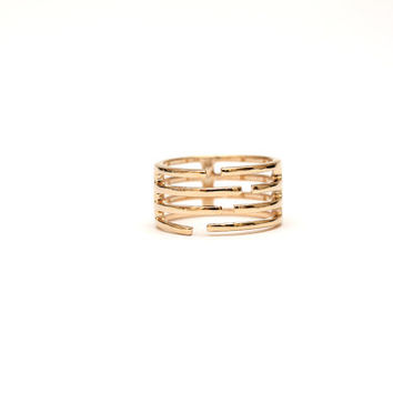 Gold Ring - Simple gold ring - Ring - Stacking ring