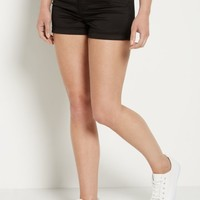 Black Stretch High Waist Shortie | Twill Shorts | rue21