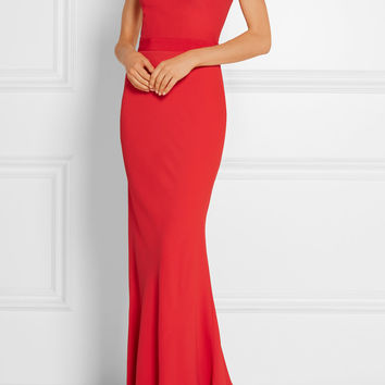 Alexander McQueen - Off-the-shoulder crepe gown