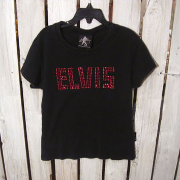 Kids Bedazzled ELVIS T-Shirt, Size S,  Very Cool Shirt for Your Little Elvis Fan!