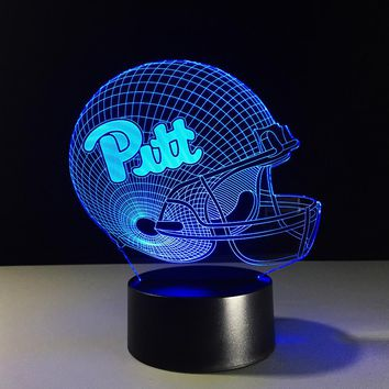 Pittsburgh Panthers NFL Football Helmet 3D LED Night Light Lamp