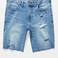 PacSun Skinniest Medium Wash Destroyed Denim Shorts at PacSun.com