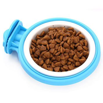 Travel Bowl Cat Feeding Water Drink Dishes