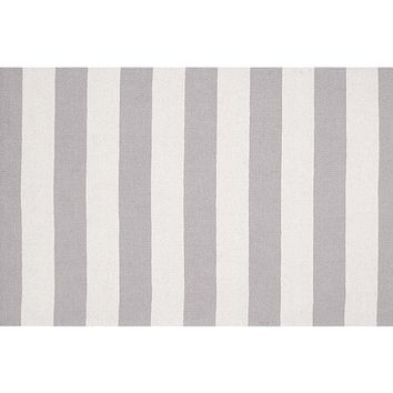 Rugby Rug- Gray/White