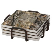 Thirstystone 4-pc. Realtree Occasions Coaster Set with Holder (Bronze)