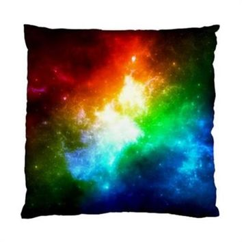 "Neon Space Nebula Throw Pillow Cover Case 17"" 1-Sided"