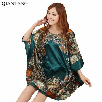 f815658f5b Hot Sale Fashion Lady Summer Robe Chinese Women s Faux Silk Bath Gown  Yukata Nightgown Nuisette Pijama