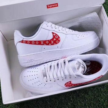 Supreme x LV x NIKE Air Force Women Men Running Sport Casual Shoes Sneakers-1