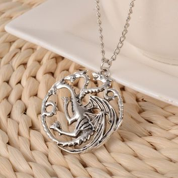 Game of Thrones Inspired Three Headed Dragon Necklace (only 5 Left)