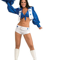 Women's Costume: Dallas Cowboys Cheerleader Deluxe | XS