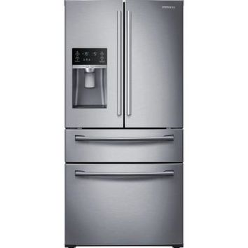 Samsung 28.15 cu. ft. French Door Refrigerator in Stainless Steel-RF28HMEDBSR at The Home Depot