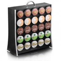 "Mind Reader ""The Wall"" 50 Capacity Single Serve Coffee Pod Display Rack , Black"