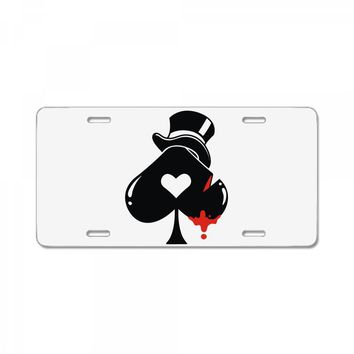poker hat ace of spades License Plate
