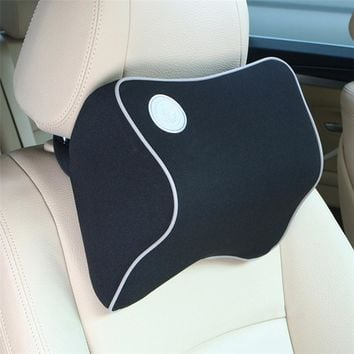 Car Auto Headrest Memory Foam Fabric Neck Headrest Car Covers Vehienlar Plaid Car Seat Cover Auto Neck