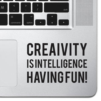 "Creativity Sticker Decal MacBook Pro Air 13"" 15"" 17"" Keyboard Keypad Mousepad Trackpad Laptop Motivational Retro Vintage Inspirational Text"