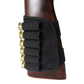 ELUANSHI Hunting Gun Accessories Buttstock 12 Gauge Shotgun Ammo Cartridges Holder Elastic for Hunting Shooting