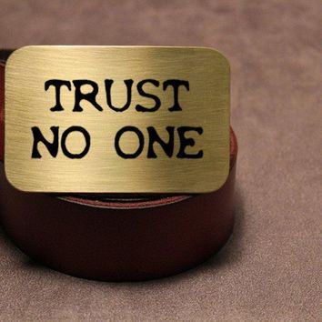 The X-Files TRUST NO ONE Belt Buckle
