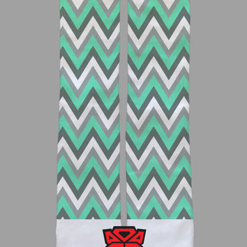 Tiffany Chevron - Custom Socks - Socktimus Prime