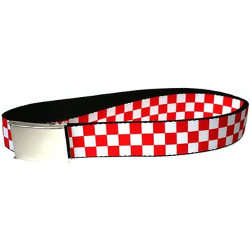 Checker - Red and White Web Belt