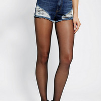 Urban Outfitters - BDG Dree Destroyed High-Rise Cheeky Short