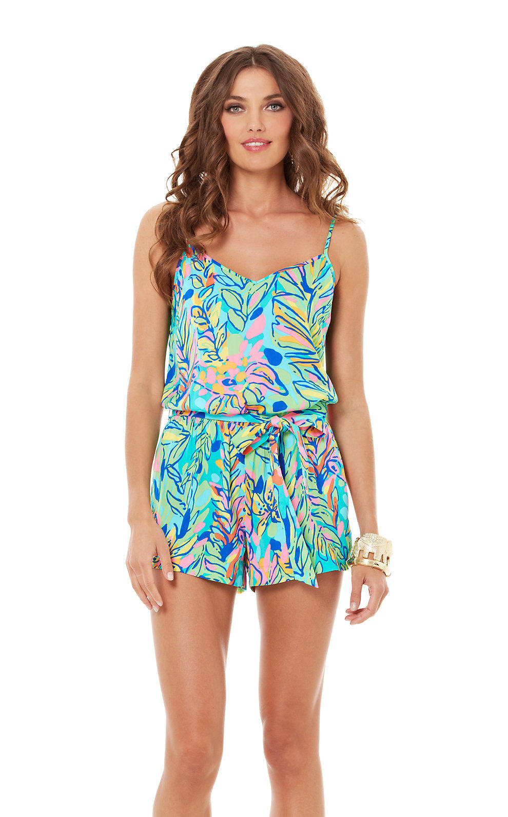 e2fb2f360aa9 Lilly Pulitzer Deanna Tank Top Romper from Lilly Pulitzer