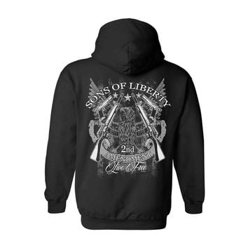Unisex Zip Up Hoodie Sons of Liberty 2nd Amendment