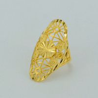 Gold Ring for Women's Real Gold Plated & Copper Africa Ring Ethiopian Jewelry Arab Ring India Nigeria Middle East #034606