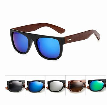 Bamboo Wooden Arms Sunglasses UV400 Driver Goggles Wooden Eye wear Shades