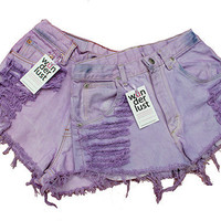 Super Distressed Purple Shorts by Shopwunderlust on Etsy