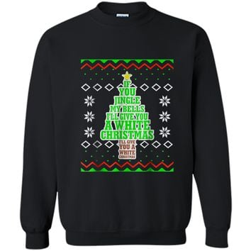 Mens Jingle My Bells Funny Adult Christmas Ugly Gift Printed Crewneck Pullover Sweatshirt