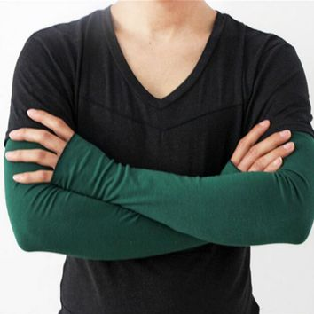Men's summer  cotton sunscreen glove male summer outdoor long sleeve 60cm R071