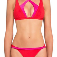 Red Twist Top Bikini