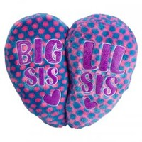 Big Sis Lil Sis Heart Pillow | Sleeping Bags & Pillows | Room Decor | Shop Justice