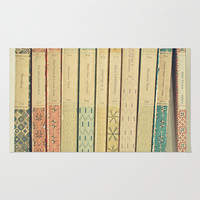 Old Books Rug by Cassia Beck