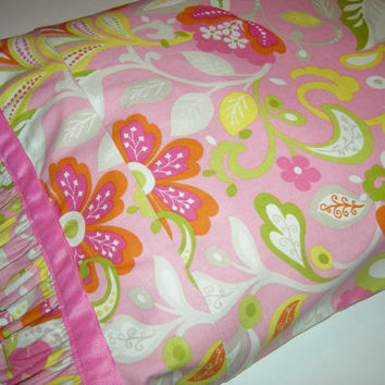 Pink Floral Ruffled Toddler Pillowcase - 16x20