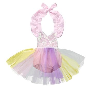 Rainbow Princess Romper